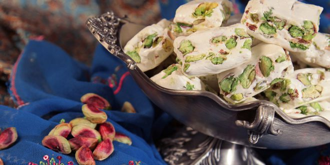 """Gaz"""" and """"Poolaki"""" are special sweets of Isfahan which the process of preparation is a culinary attraction"""