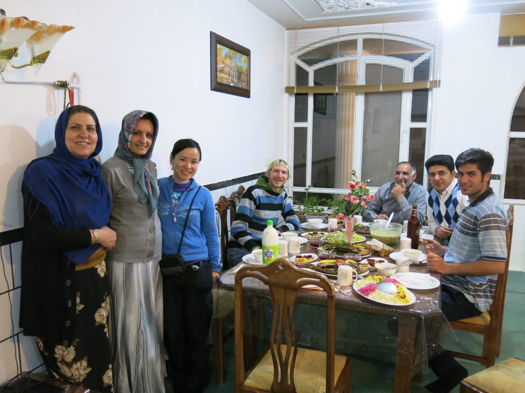 Dinner table and Iranian food culture