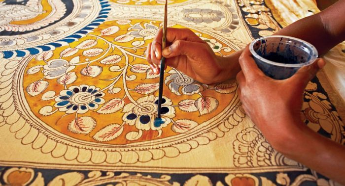 kalamkari drawings on Persian fabrics are very delicate and fine