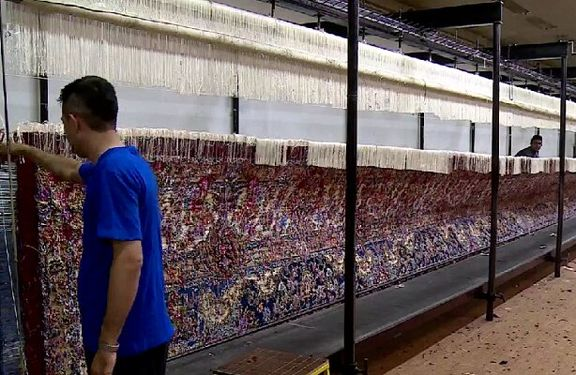 The first 600-square-meters seamless carpet in the world