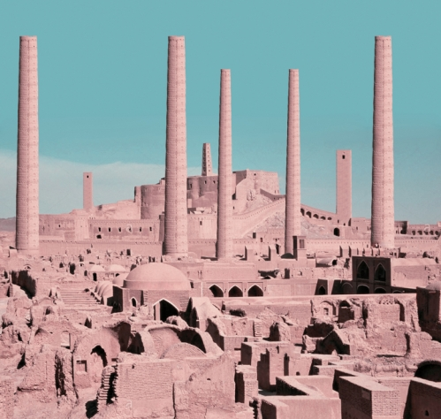 Chimey-like towers in Arg-e-Bam, another example of Persian ancient architecture