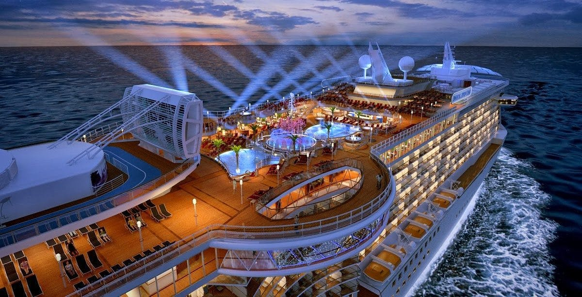 The cruise has a maximum capacity of 244 people